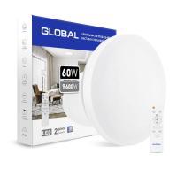 Cветодиодный светильник Global 60 Вт (пульт, димминг, ночник, CCT 3000-6500K, IP44) круг
