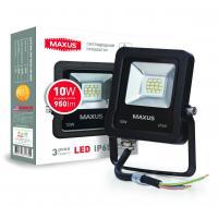Прожектор светодиодный MAXUS 10 Вт 5000K 1-MAX-01-LFL-1050 950 Лм