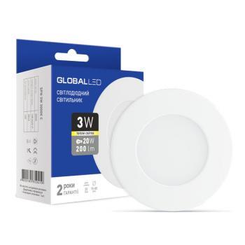 Встраиваемый светодиодный светильник GLOBAL SPN 3Вт 1-SPN-001-С