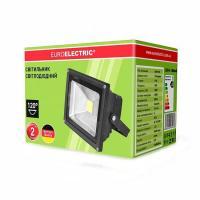 Прожектор светодиодний EUROELECTRIC COB 10 Вт classic 6500 K LED-FL-10 (black) 800 Лм