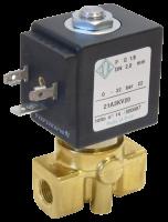 """Электромагнитный клапан прямого действия НЗ ODE 21A2KT15(30) 1/4"""" от 1,4 до 4 л/мин"""