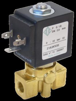 """Электромагнитный клапан прямого действия НЗ ODE 21A5KB45(55) 3/8"""" от 6,5 до 9 л/мин"""