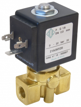 """Электромагнитный клапан прямого действия НО ODE 21A3ZV15(55) 1/8"""" от 1,4 до 6,5 л/мин"""