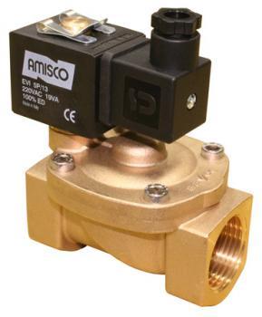 """Электромагнитный клапан GEVAX 1901 1"""" непрямого действия НО 0.5 - 16 bar"""