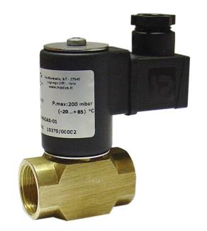 Электромагнитный  клапан MADAS EVO/NC Dn20 PN0,2  для природного газа (Латунь) НЗ автоматический