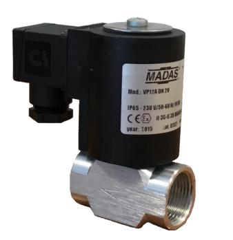 Электромагнитный  клапан MADAS VP12 Dn20 PN2  для природного газа НЗ автоматический