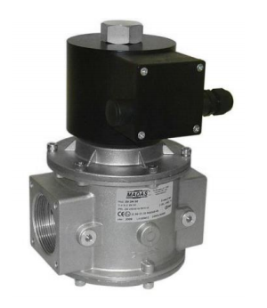 Электромагнитный  клапан MADAS EVPC/NC Dn32 PN0,36  для природного газа НЗ автоматический
