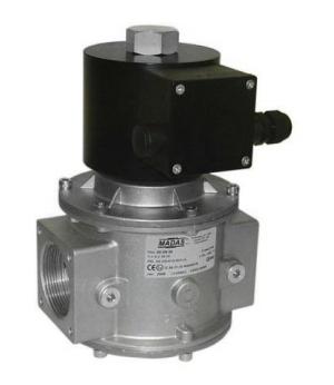 Электромагнитный  клапан MADAS EVPC/NC Dn40 PN0,2  для природного газа НЗ автоматический