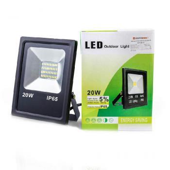 Прожектор світлодіодний ЕВРОСВЕТ 20 Вт 6400 К EV-20-01 1400 Лм SMD