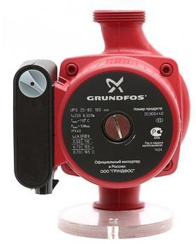 Насос циркуляционный Grundfos UPS 25-80 180 мм