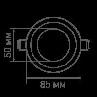 Встраиваемый светодиодный светильник MAXUS SDL 4 Вт