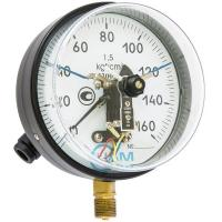 Манометр ДВ 8008-В-У2 и 2 виброустойчивый 100кгс/см2 кл.1.5 М20х1,5 (G1/2)