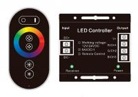 RGB Контроллер 18 А Радио - (черный сенсорный пульт) 6 кнопок