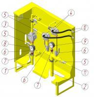Шафовий газорегуляторний пункт побутової ШРБ з регулятором R25