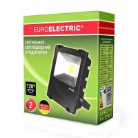 Прожектор светодиодний EUROELECTRIC COB с радиатором modern 10 Вт 6500 K LED-FLR-COB-10 1100 Лм