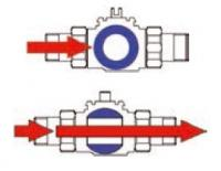 """Шаровый кран DE PALA 2-ходовый открытый/закрытый dn 25 (1"""") с электроприводом"""