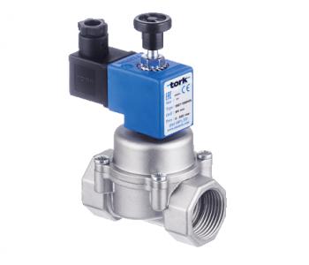 Электромагнитный клапан для природного газа TORK S8086-04 DN 20 P 500 mbar N.A. с ручным взводом