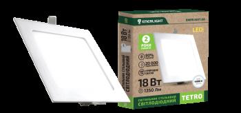 Светильник потолочный светодиодный ENERLIGHT TETRO 18 Вт 4000 К
