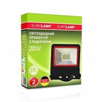 Прожектор светодиодный EUROLAMP SMD черный с радиатором NEW 20 Вт 6500 K LED-FL-20 (black) new 1800 Лм