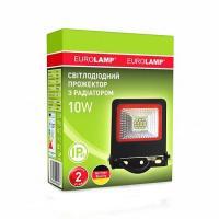 Прожектор світлодіодний EUROLAMP SMD чорний з радіатором NEW 10 Вт 6500 K LED-FL-10 (black) new 900 Лм
