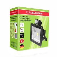 Прожектор світлодіодний EUROLAMP з датчиком руху 30 Вт 6500 К LED-FL-30 (sensor) 2550 Лм