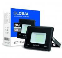 Прожектор светодиодный GLOBAL FLOOD LIGHT 20 Вт 5000 K 1-GBL-02-LFL-2060 1600 Лм