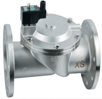 Электромагнитный клапан GAMA GFSS-100F DN 100 N.C. нержавеющая сталь фланцевый 0 - 6 bar