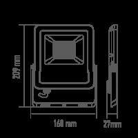 Прожектор светодиодный MAXUS 30 Вт 5000K 1-MAX-01-LFL-3050 2850 Лм