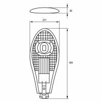Вуличний консольний світлодіодний світильник EUROLAMP полегшений COB 30 Вт 6000 K