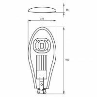 Вуличний консольний світлодіодний світильник EUROLAMP класичний COB 50 Вт 6000 K