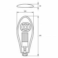 Вуличний консольний світлодіодний світильник EUROLAMP класичний COB 30 Вт 6000 K